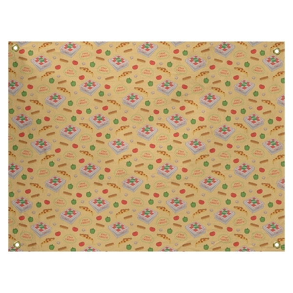 Katelyn Elizabeth Yellow Color Pizza Pattern Tapestry In/Out
