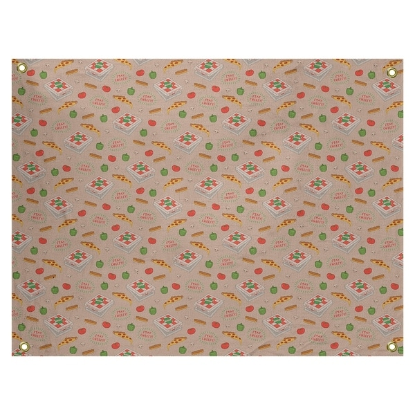Katelyn Elizabeth Gray Color Pizza Pattern Tapestry In/Out