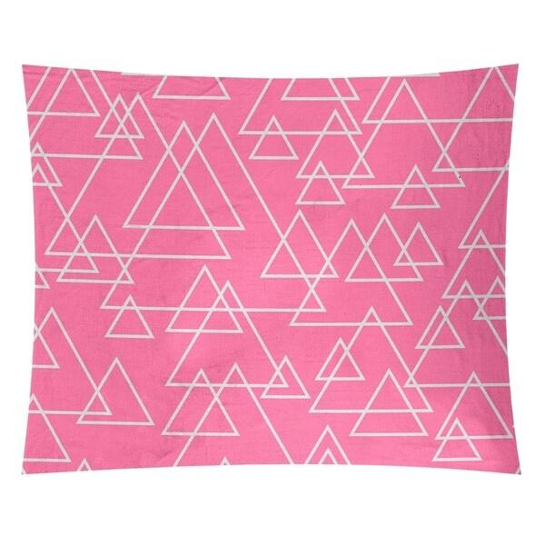 Katelyn Elizabeth Pink Scattered Triangle Pattern Tapestry