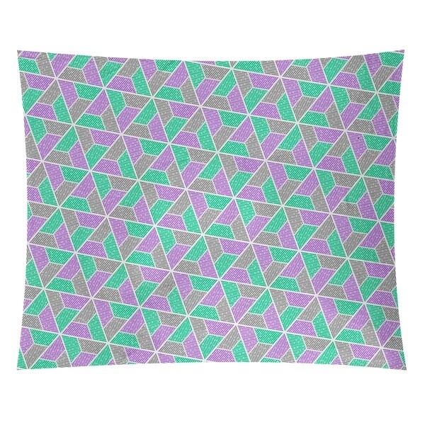Katelyn Elizabeth Green Purple & Gray Trapezoids Tapestry