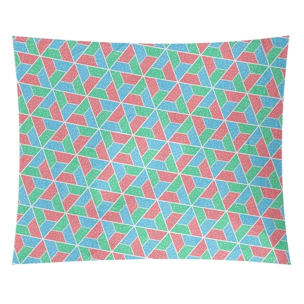Katelyn Elizabeth Green Red & Blue Trapezoids Tapestry