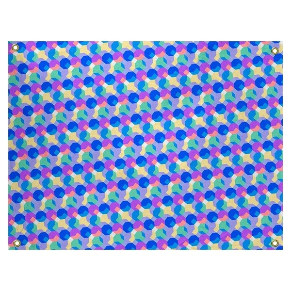 Katelyn Elizabeth Blue & Purple Octagons Tapestry In/Out
