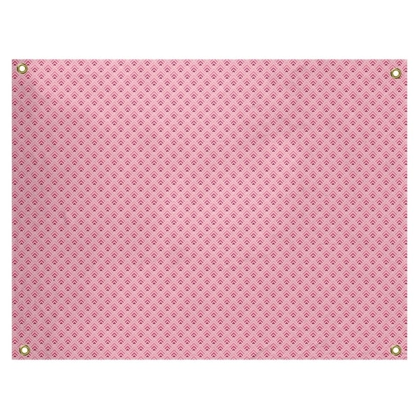 Katelyn Elizabeth Pink Reverse Ombre Geometric Pattern Tapestry In/Out