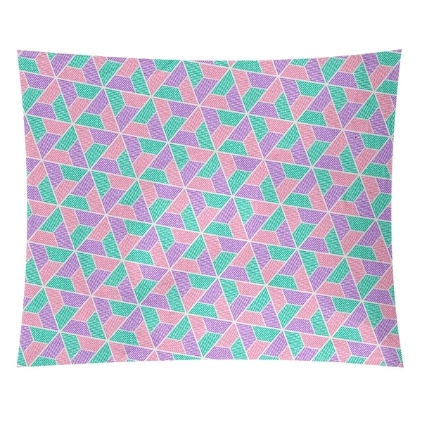 Katelyn Elizabeth Green Pink & Purple Trapezoids Tapestry
