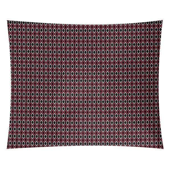 Katelyn Elizabeth Black & Red Arrow Diamonds Tapestry