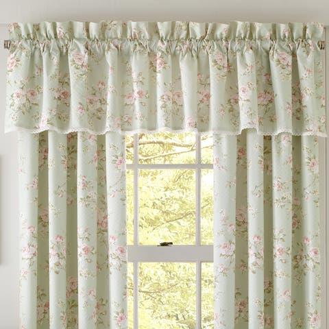 Five Queens Court Lorraine Floral Cotton Straight Valance