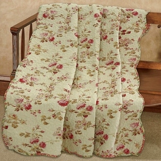 Link to Cozy Line Silas Floral Reversible Cotton Throw Blanket Similar Items in Blankets & Throws