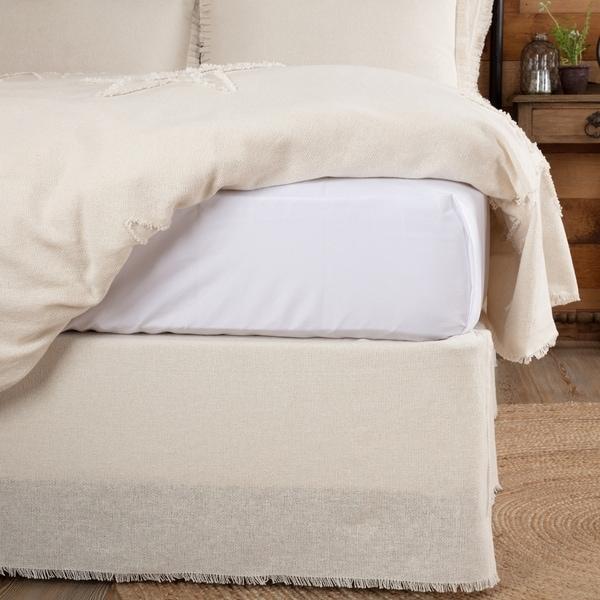 Farmhouse Bedding Veranda Burlap Tan Bed Skirt