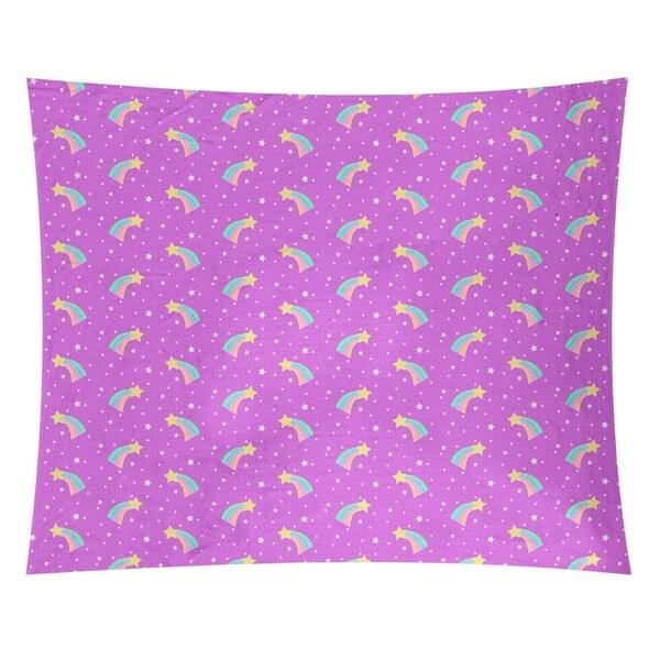 Katelyn Elizabeth Violet Shooting Stars Pattern Tapestry
