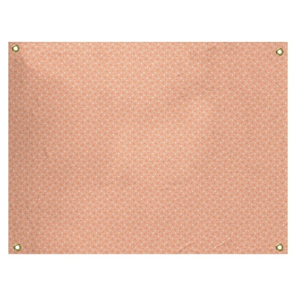 Katelyn Elizabeth Pastel Orange Hexagonal Lattice Tapestry In/Out