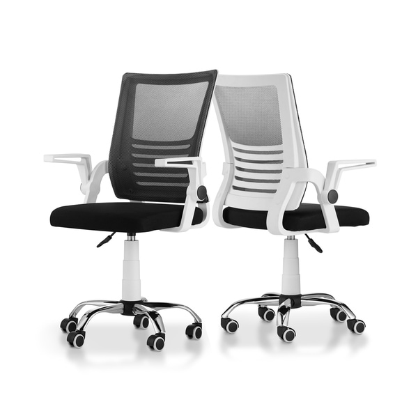 Furniture of America Moss Contemporary White Metal Swivel Office Chair