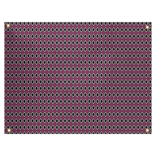 Katelyn Elizabeth Black & Pink Geometric Diamonds Tapestry In/Out