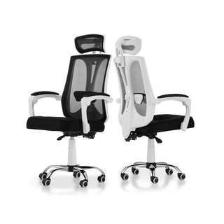 Furniture of America Jivo Contemporary White Metal Swivel Office Chair