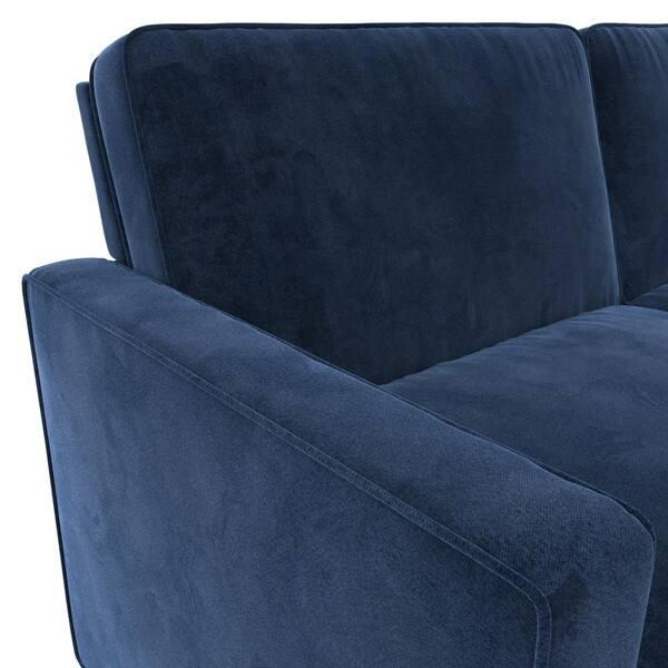 Outstanding Shop Copper Grove Slavuta Blue Velvet Loveseat Full Sofa Squirreltailoven Fun Painted Chair Ideas Images Squirreltailovenorg