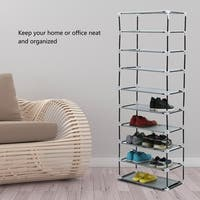 Metal Shoes Rack 5/10 Layer Shoes Stand Dust-Shelves Storage Organizer