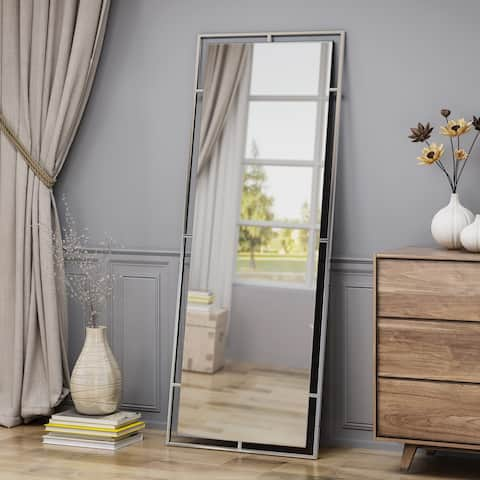 Pinefield Modern Rectangular Standing Mirror by Christopher Knight Home - Mirror, Stainless