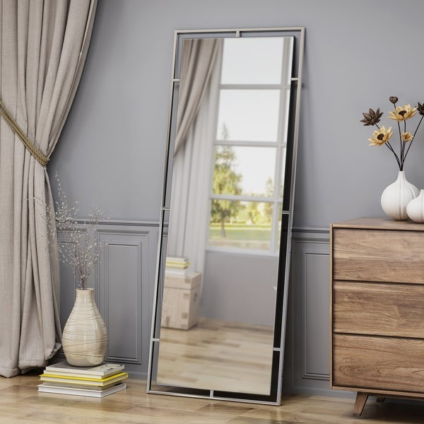 Pinefield Modern Rectangular Standing Mirror by Christopher Knight Home - Mirror, Stainless - N/A
