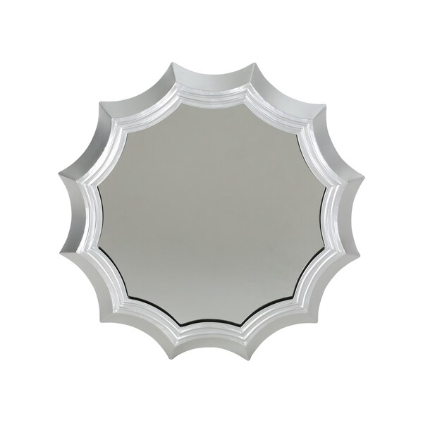 Ferraro Industrial Round Metal Sun Mirror with Tempered Glass and Iron by Christopher Knight Home