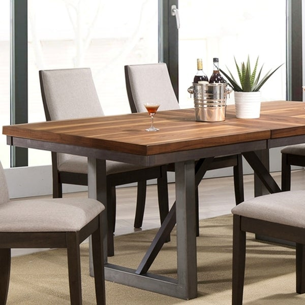 Shop Mid-Century Modern Wooden Block Design Dining Table