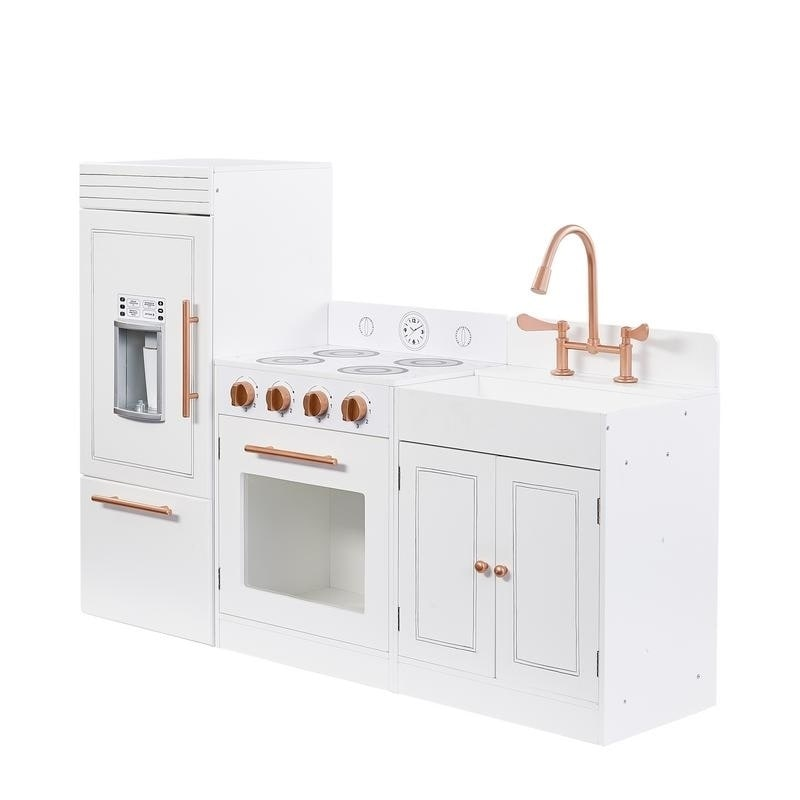 Teamson Kids- Little Chef Paris Modern Play Kitchen, White/ Rose Gold