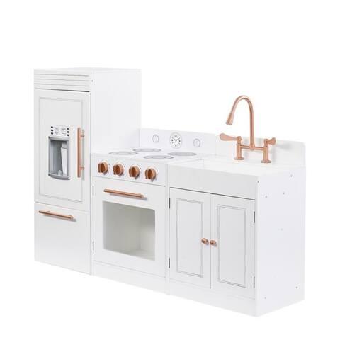 Teamson Kids- Little Chef Paris Modern Play Kitchen, White/ Rose Gold