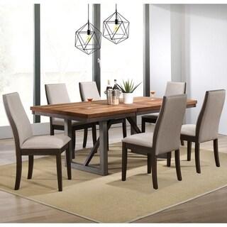 Mid-Century Modern Wooden Block Design Dining Set