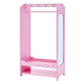 Teamson Kids - Fashion Polka Dot Prints Bella Dress Up Unit - Pink / White