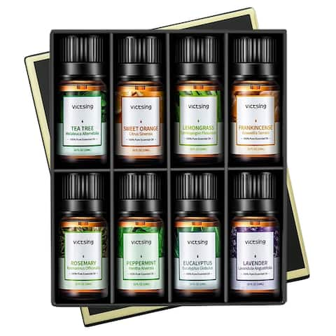 VicTsing Top 8 Aromatherapy Essential Oils, 100% Pure Therapeutic Grade