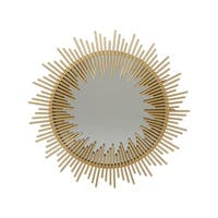 Sunking Modern Industrial Metal Sunburst Wall Mirror by Christopher Knight Home - N/A