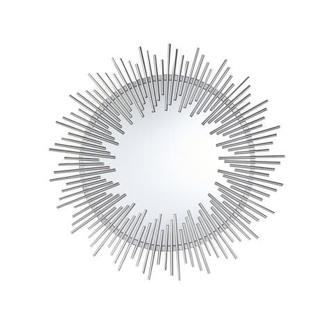 Sunking Modern Industrial Metal Sunburst Wall Mirror by Christopher Knight Home