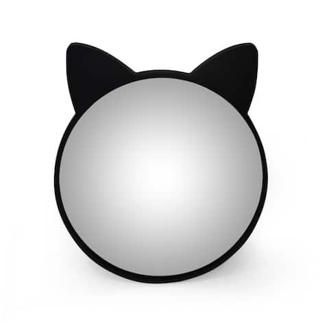 Boca Cat Ear Vanity Mirror with Iron Frame by Christopher Knight Home