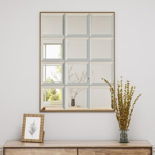 Benno Rectangular Tile-Like Wall Mirror by Christopher Knight Home - Mirror, Bronze