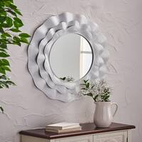 Bergstrom Modern Metal Mirror with Distressed Paint by Christopher Knight Home