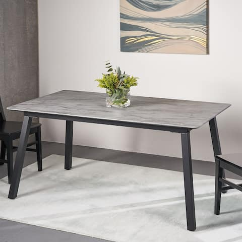 Corcoran Modern Dining Table with Laminate Table Top by Christopher Knight Home - N/A