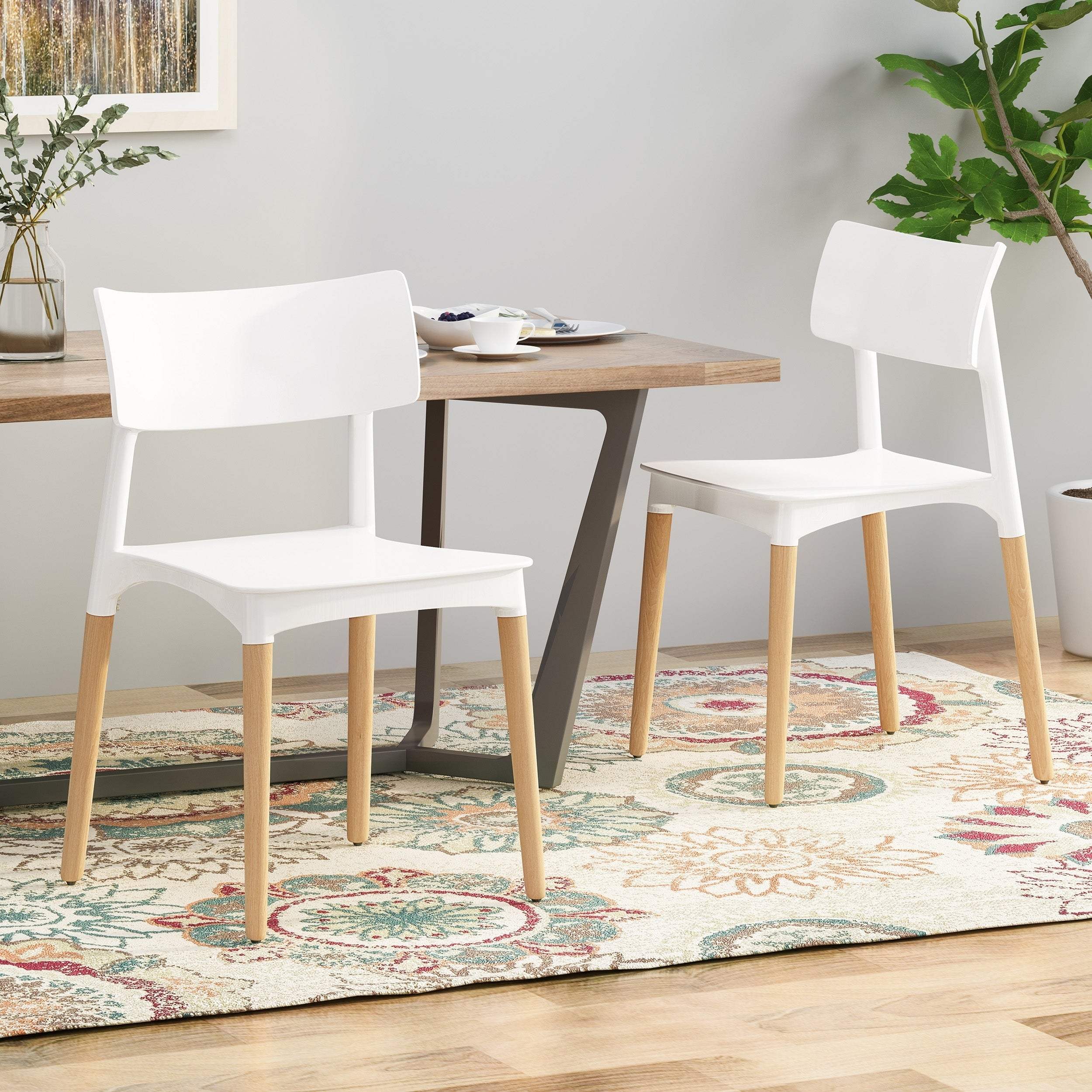 Dining Chair With Beech Wood Legs
