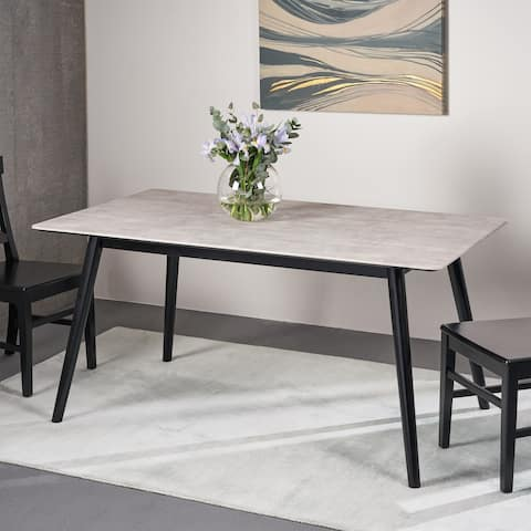 Georgetowne Modern Dining Table with Rubberwood Legs and Laminate Table Top by Christopher Knight Home