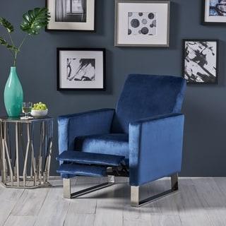 Christopher Knight Home Brightwood Blue Velvet Recliner