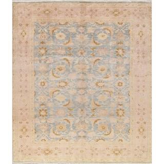 """Oushak Pakistani Floral Handmade Wool Oriental Area Rug - 9'9"""" x 8'2"""""""