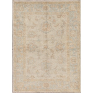 "Oushak Turkish Oriental Hand Knotted Wool Area Rug - 5'4"" x 4'1"""