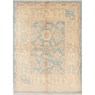 "Oushak Turkish Oriental Hand Knotted Wool Area Rug - 7'8"" x 5'7"""