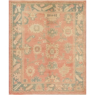 "Oushak Turkish Oriental Hand Knotted Wool Area Rug - 7'2"" x 5'9"""