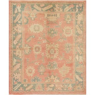 """Oushak Turkish Oriental Hand Knotted Wool Area Rug - 7'2"""" x 5'9"""""""