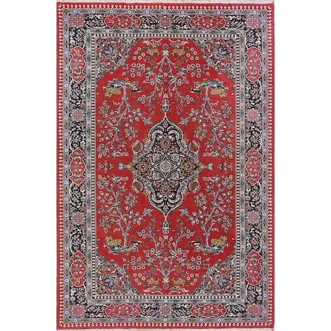 "Oushak Turkish Floral Acrylic & Wool Oriental Area Rug - 9'8"" x 6'6"""