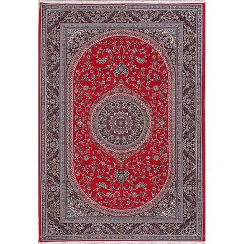 "Oushak Turkish Floral Acrylic Oriental Area Rug - 9'7"" x 6'7"""