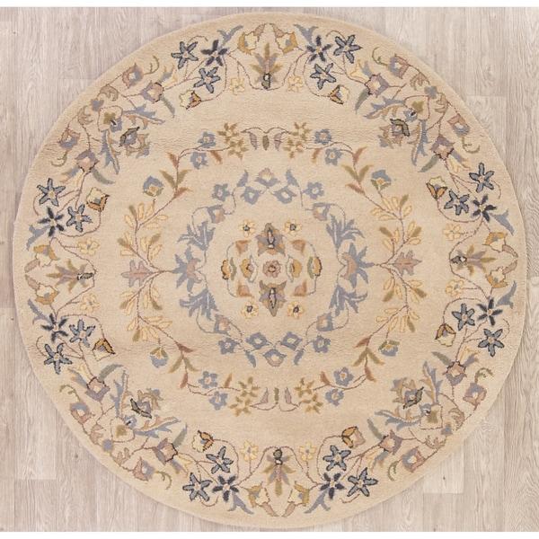Shop Oushak India Floral & Botanical Hand Tufted Wool