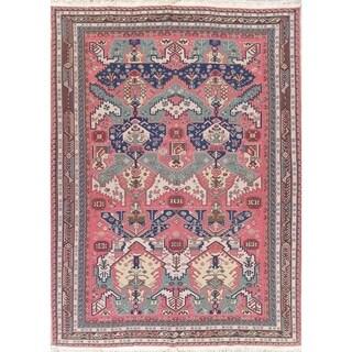 "Sumak Turkish Geometric Hand Woven Wool Oriental Area Rug - 11'3"" x 8'4"""