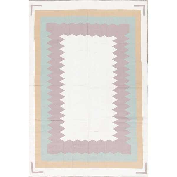 """Porch & Den Post Alley Hand-woven Wool Contemporary Geometric Area Rug - 9'2"""" x 5'11"""""""