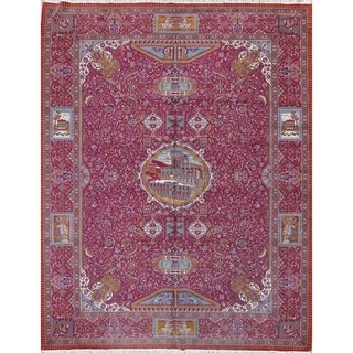 "Oushak Turkish Floral Acrylic & Wool Oriental Area Rug - 12'9"" x 9'8"""
