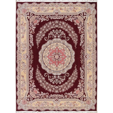 "Tabriz Medallion Acrylic & Wool Persian Area Rug - 13'2"" x 9'9"""