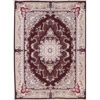 "Tabriz Floral Acrylic & Wool Persian Area Rug - 13'0"" x 9'5"""